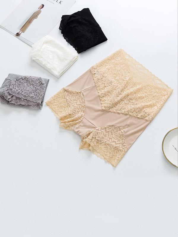 Women's Sexy Lace Seamless Elastic Safety Pants & Safety Shorts