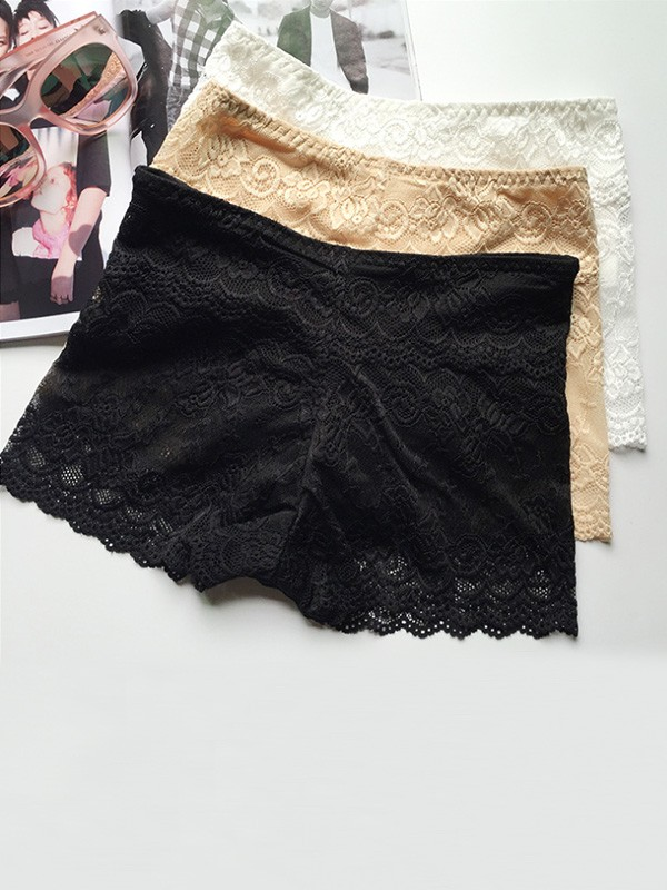 Women's Sexy Lace Elastic Safety Pants & Safety Shorts