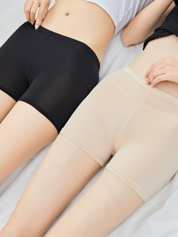 Women's New Polyester Fiber Elastic Safety Pants & Safety Shorts