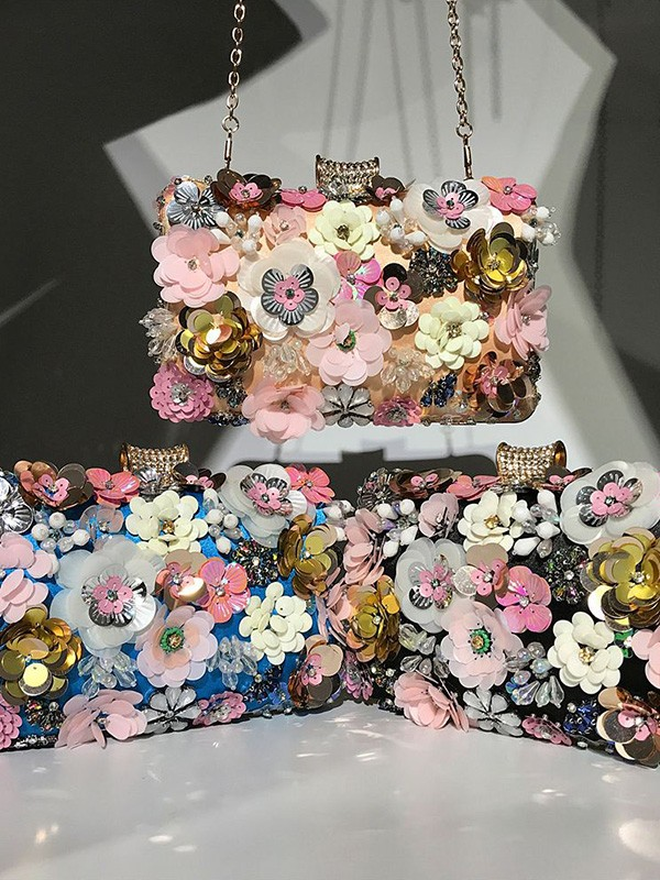 Trending Flowers Beading Handbags For Evening/Party