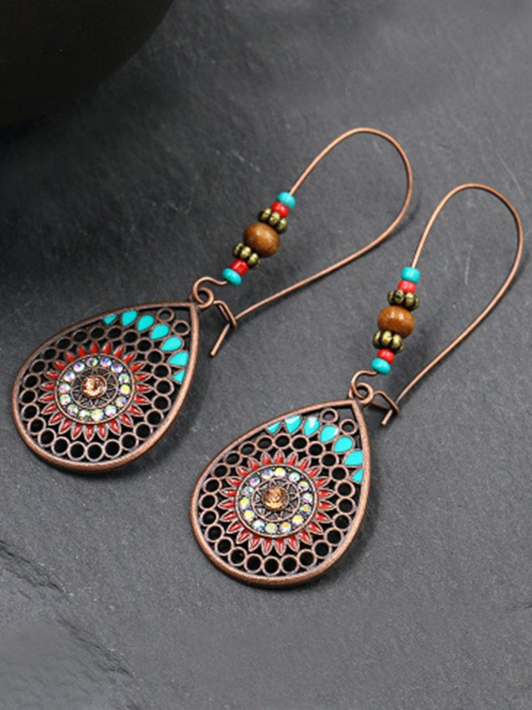 Unique Bohemia Style Alloy Earrings With Water Drop