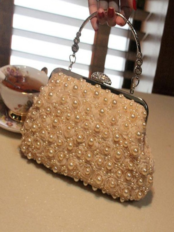 Beautiful Pearl Handbags For Evening/Party