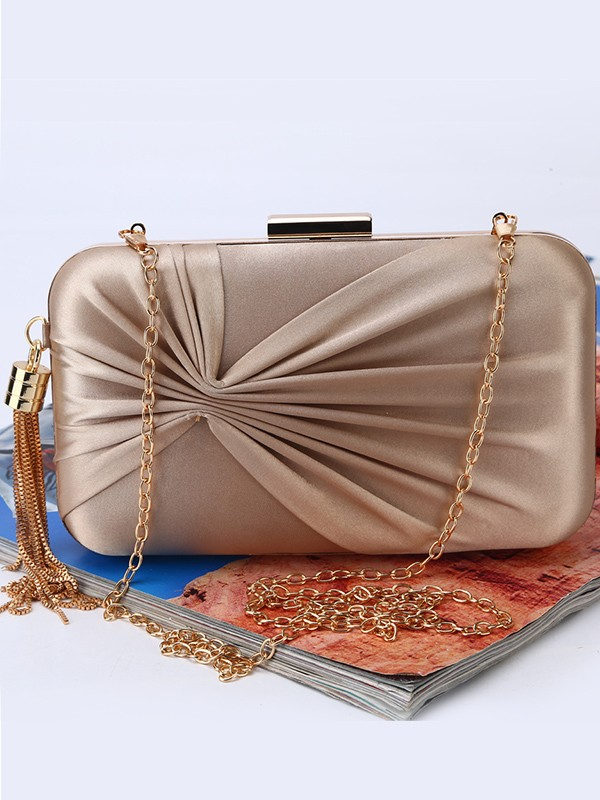 Perfect Ruched Handbags For Evening/Party