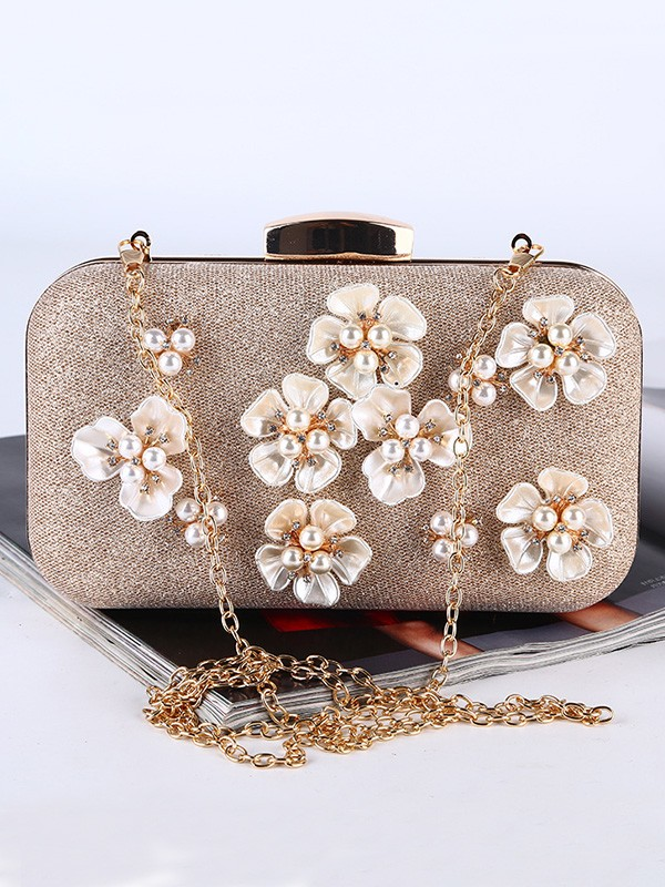 Fashion Pearl Flowers Handbags For Evening/Party