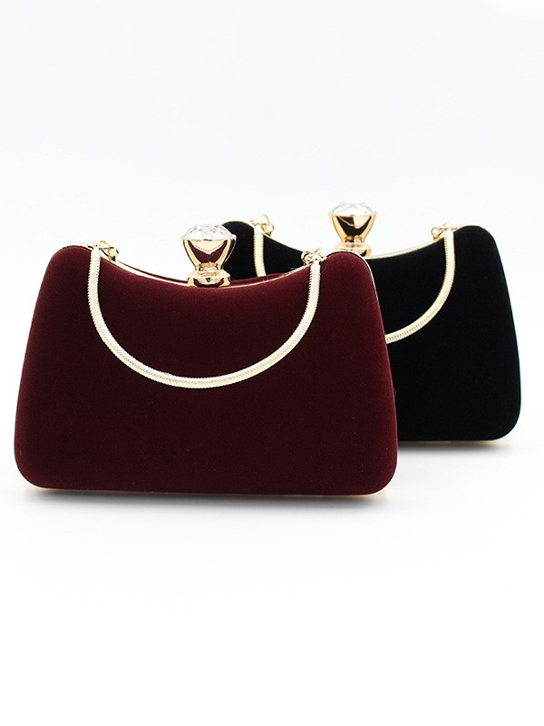 Luxurious Velvet Handbags For Evening/Party