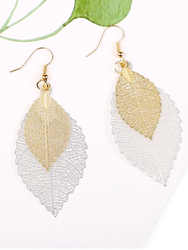 Vintage Copper Hot Sale Earrings With Leaf For Women