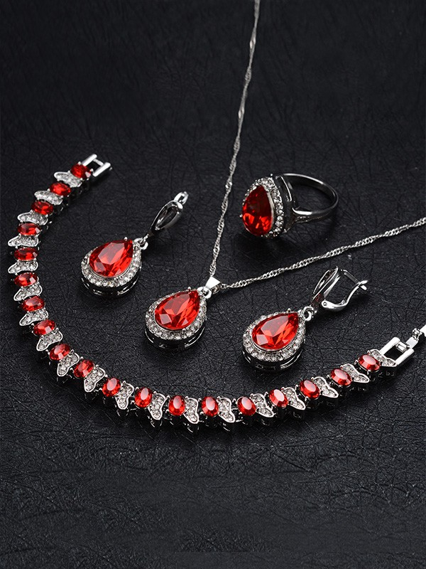 New Occident Rhinestone Alloy Hot Sale Jewelry Set