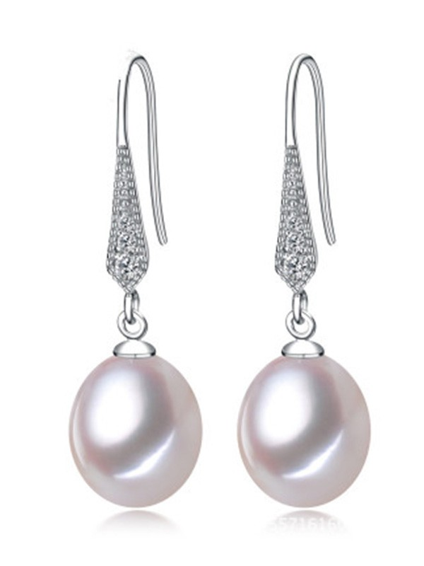 Women's Simple S925 Silver Earrings With Pearl