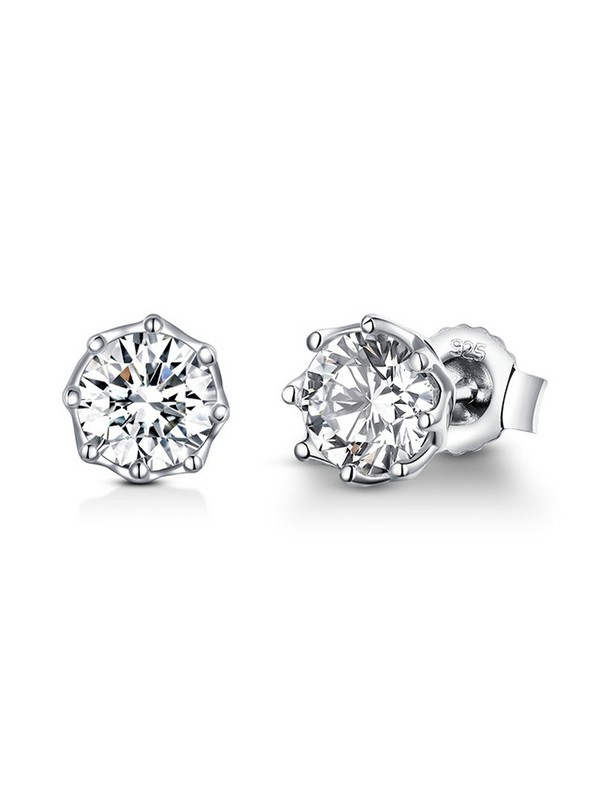 Brilliant S925 Silver Zirconia Earrings With Cubic