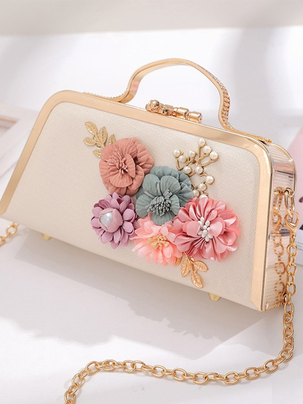 Unique Handbags For Evening/Party With Flowers
