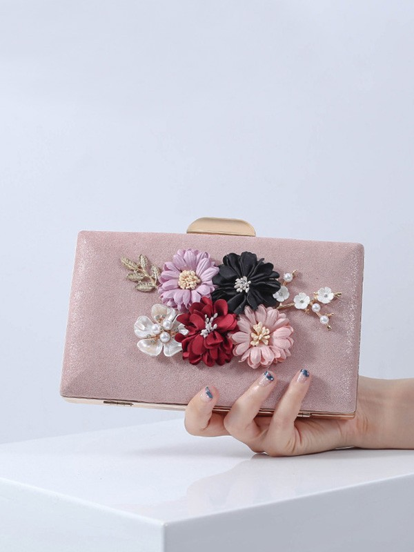Pretty PU Flowers Handbags For Evening/Party