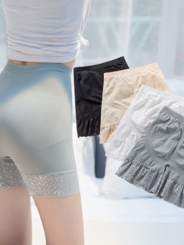 Women's Fashion Nylon Lace Elastic Safety Pants & Safety Shorts