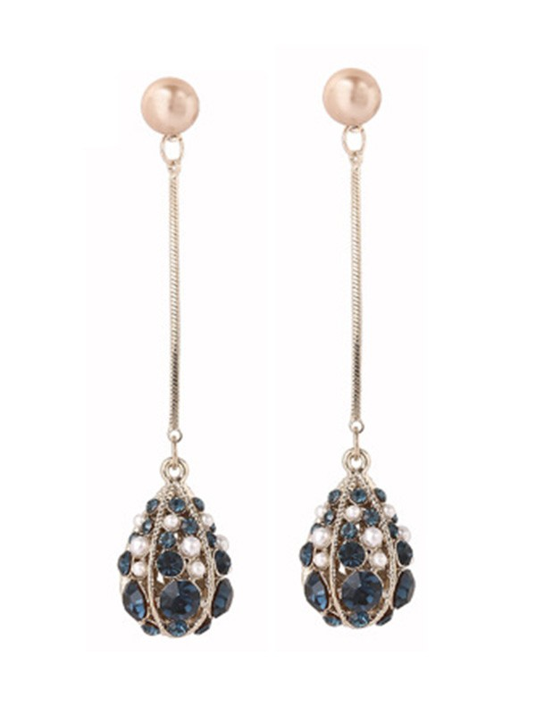 Unique S925 Silver Water Drop Earrings With Pearl
