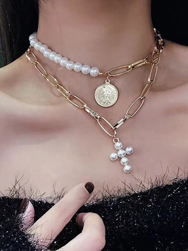 Gorgeous Pearl Alloy Hot Sale Necklaces