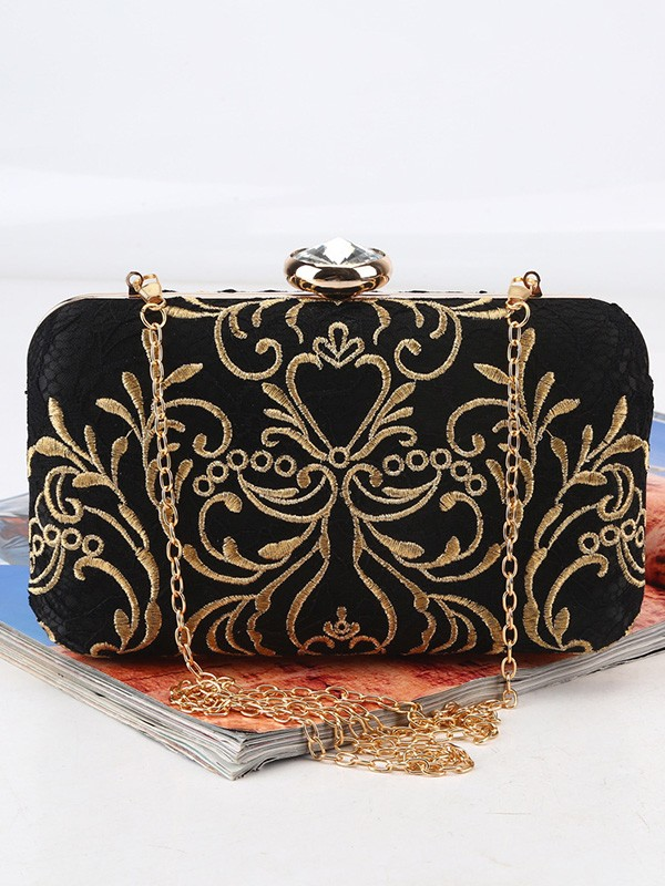 Trendy Satin Handbags For Evening/Party