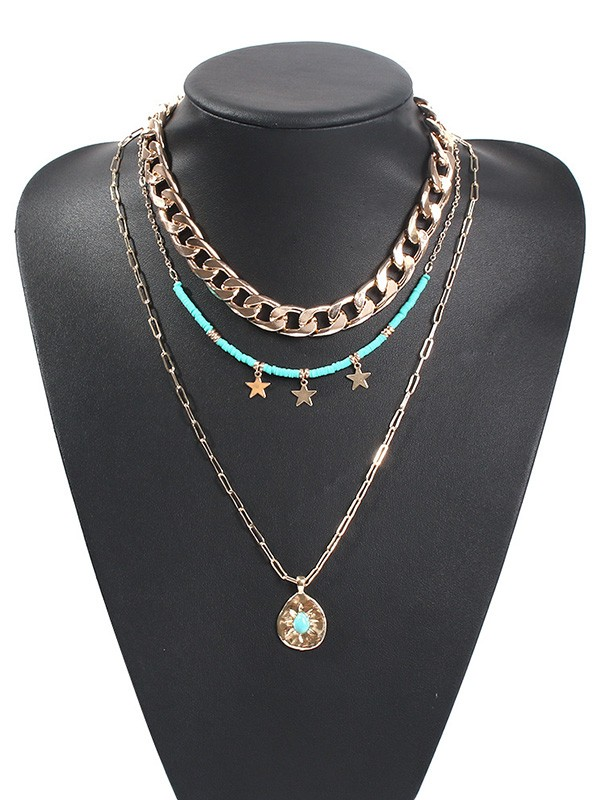 Fashion Star Alloy Hot Sale Necklaces
