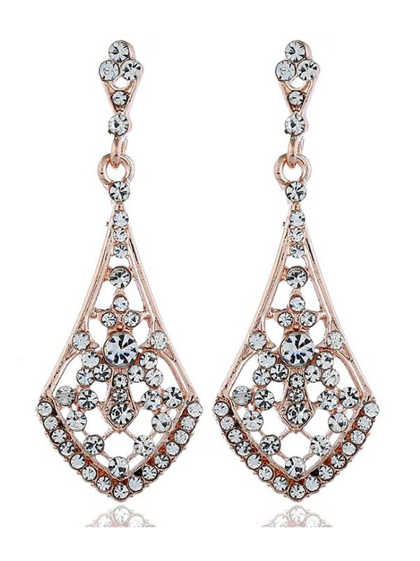 Vintage Alloy Hot Sale Earrings With Rhinestone
