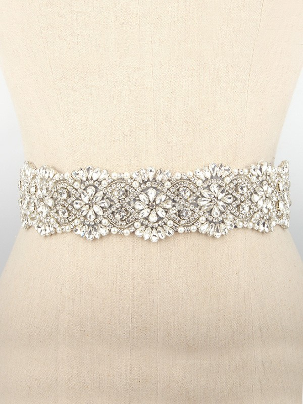 Gorgeous Women's Rhinestones & Imitation Pearls Cloth Sashes